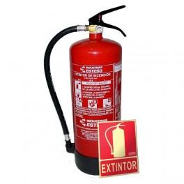 Extintor 6Kg. + Señal