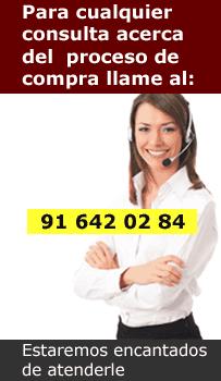 Para cualquier consulta llame al. 91 642 02 84 de lunes a viernes